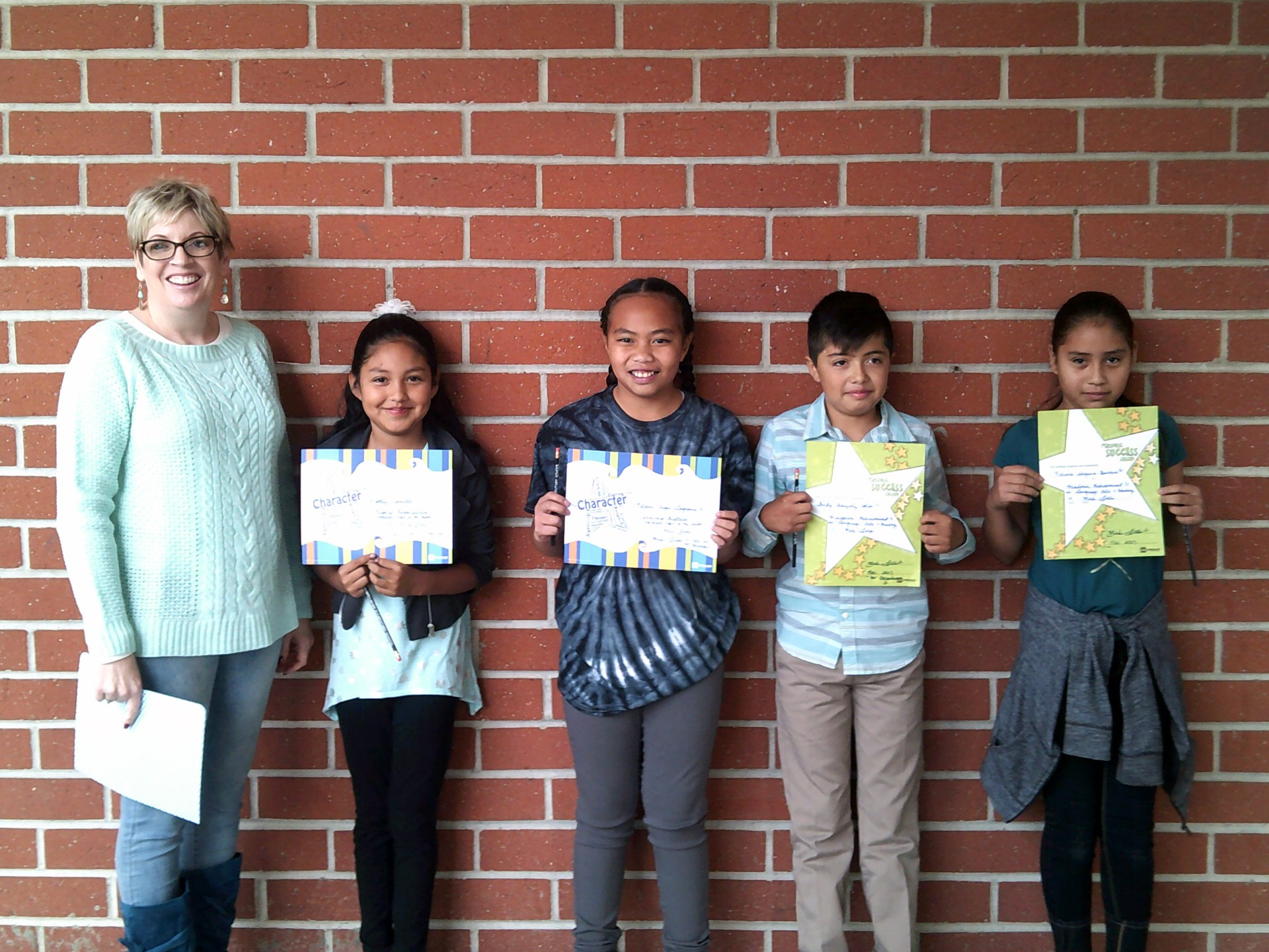Mrs. Lies' November & December Honorees