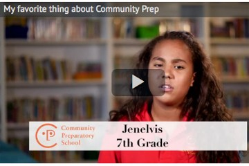 Click here to watch video: My favorite thing about Community Prep Featured Photo
