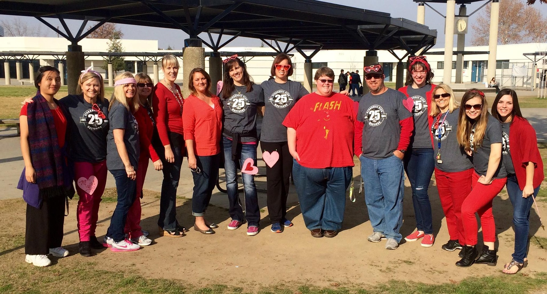 Faculty for the Valentines Day Rally