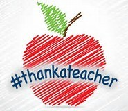 shows an apple with hastag #thankateacher