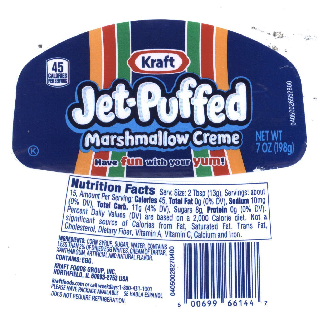 Jet-Puffed Nutritional info