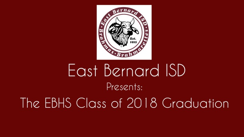 The EBHS Class of 2018 Graduation Live Stream Information Thumbnail Image