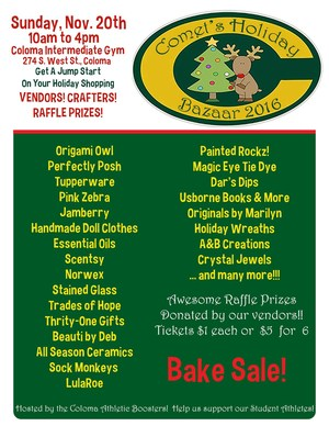 Comets Holiday Bazaar Flyer