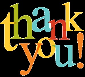 clip art that says thank you