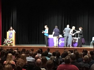 kaytlin cottrell being inducted into the FLTCC Honor Society