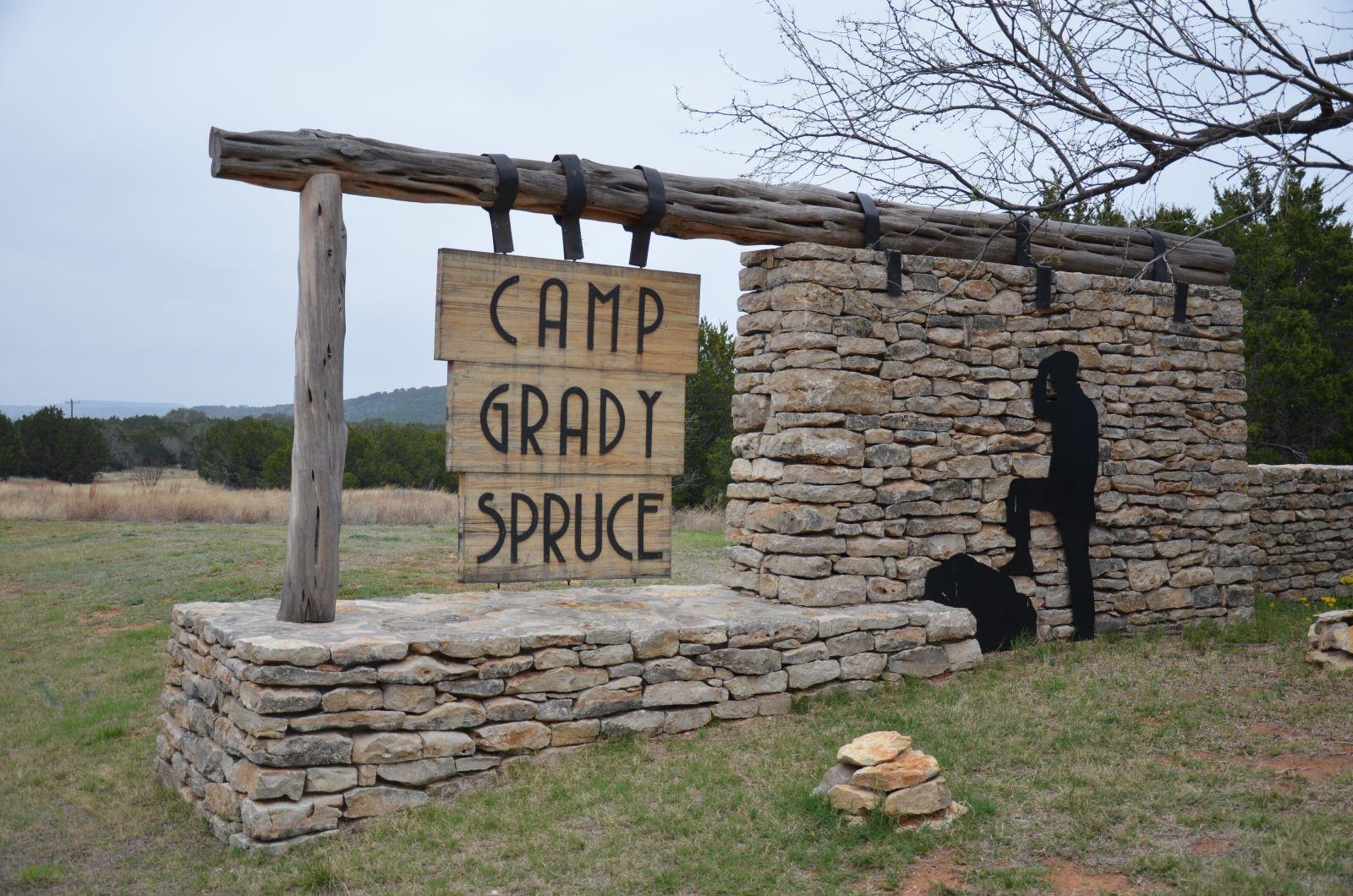 Camp Grady Spruce entrance