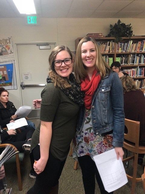 Mrs. Mowry and Mrs. Caneday - the presenters