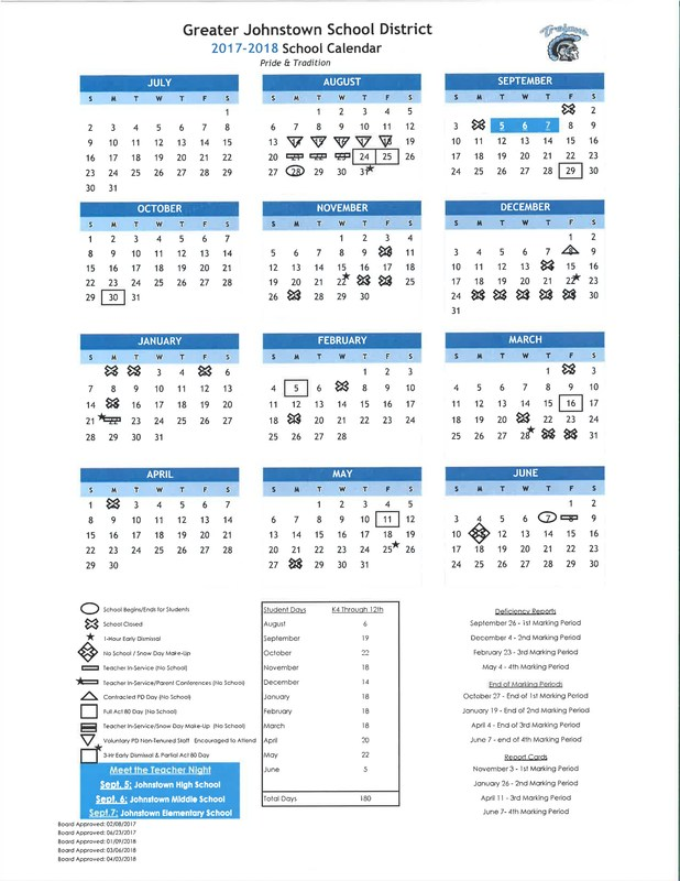 Updated April 3rd -17-18 school calendar