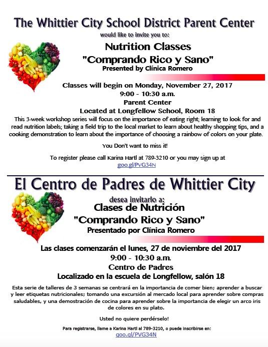 Nutrition Classes