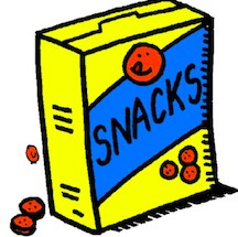 Clip art of snack box