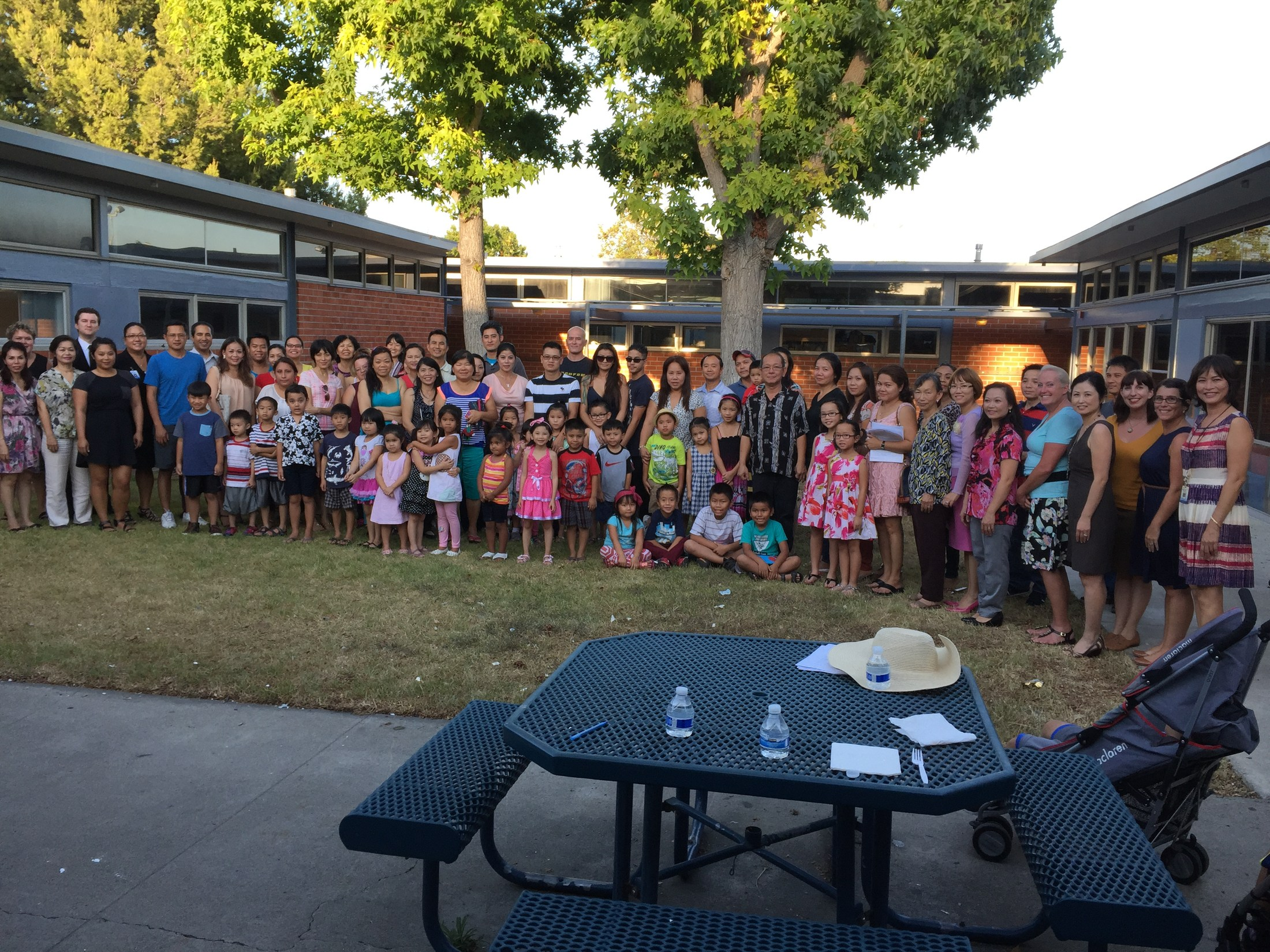Over 80 family members at our Vietnamese Dual Language Immersion Family Commitment Night