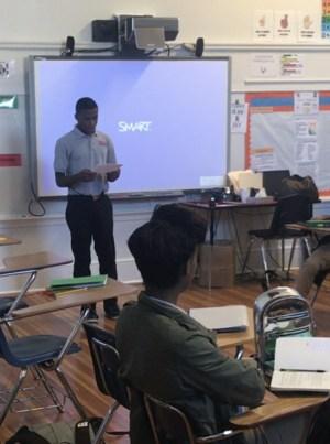 Jesus Douglas reads his poem about 9/11.