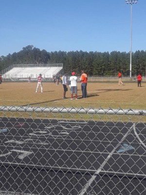 Teachers strategize for kickball tournament