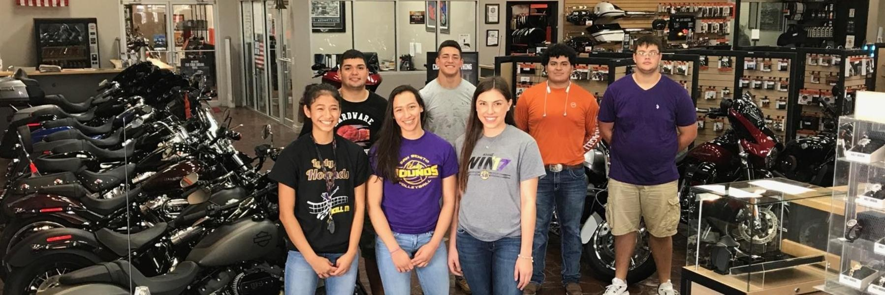 San Benito athletes are doing their part to assist with Hurricane Harvey relief efforts by taking donations to the local Mad Boar Harley-Davidson in San Benito.