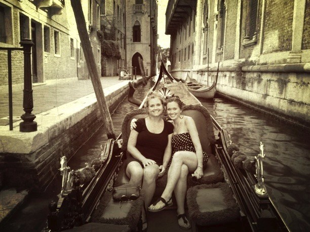 Venice with my sister, Bridget