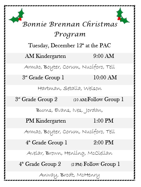 Christmas Programs Featured Photo