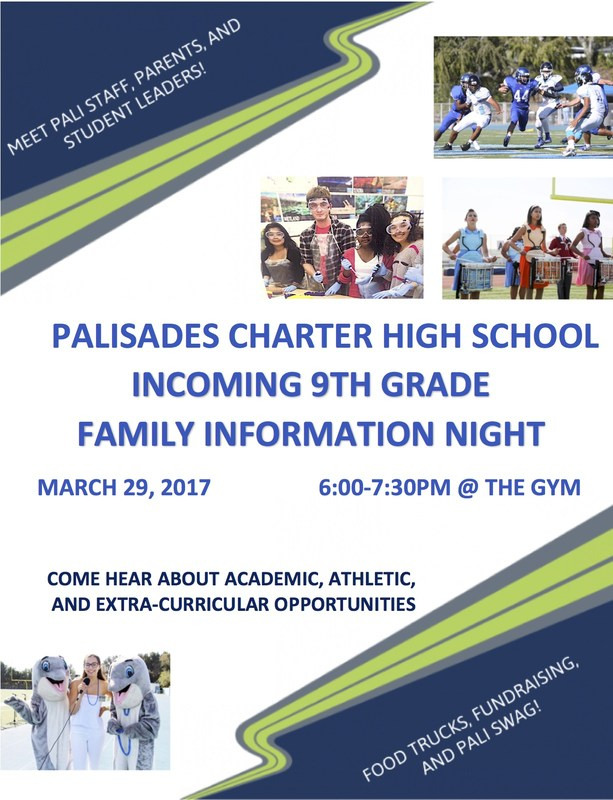 Incoming 9th Grade Families Information Night March 29 Thumbnail Image