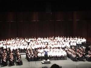 students singing at choral festival