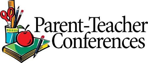 Parent Teacher Conference book with apple and pencil holder