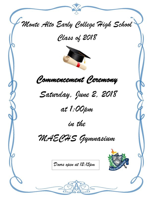 Monte Alto ECHS Commencement Ceremony Featured Photo