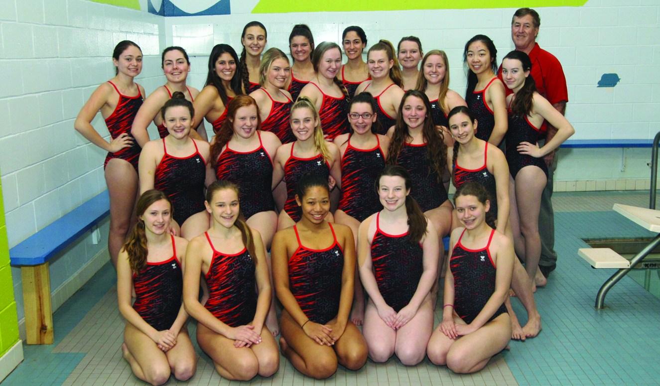 High school swimming girls