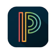 PowerSchool Logo - Large multicolored line drawn P