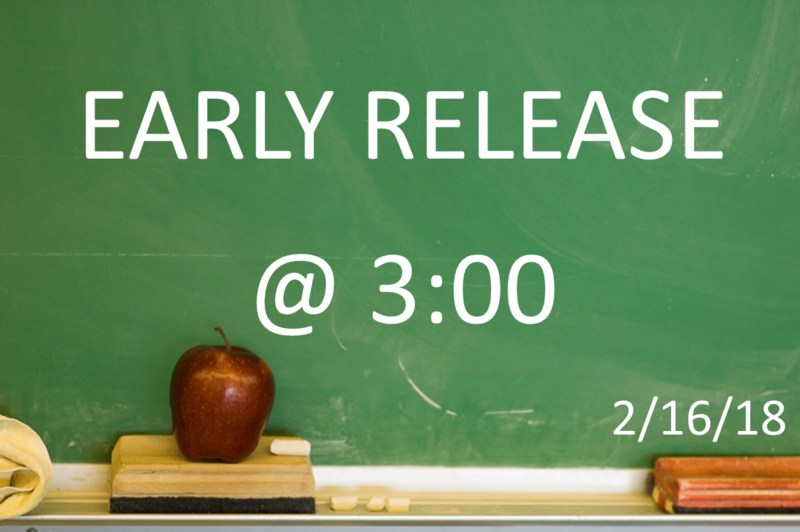 EARLY RELEASE @ 3:00 2/16/2018 Featured Photo