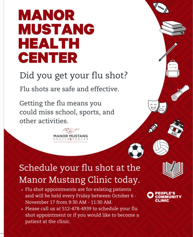 Manor Mustang Health Center Offering Flu Shots Thumbnail Image