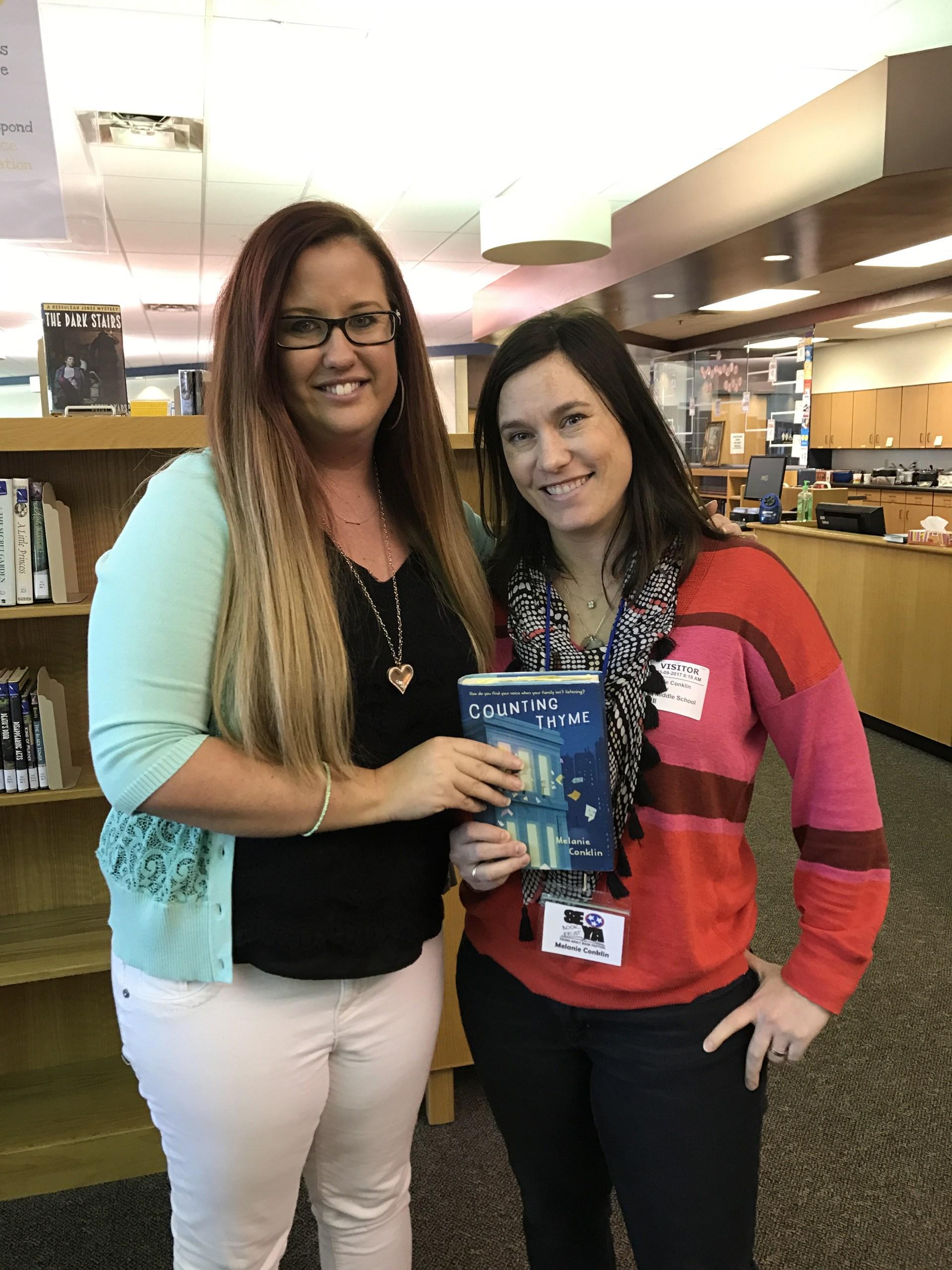 School SEYA author visit with Melanie Conklin