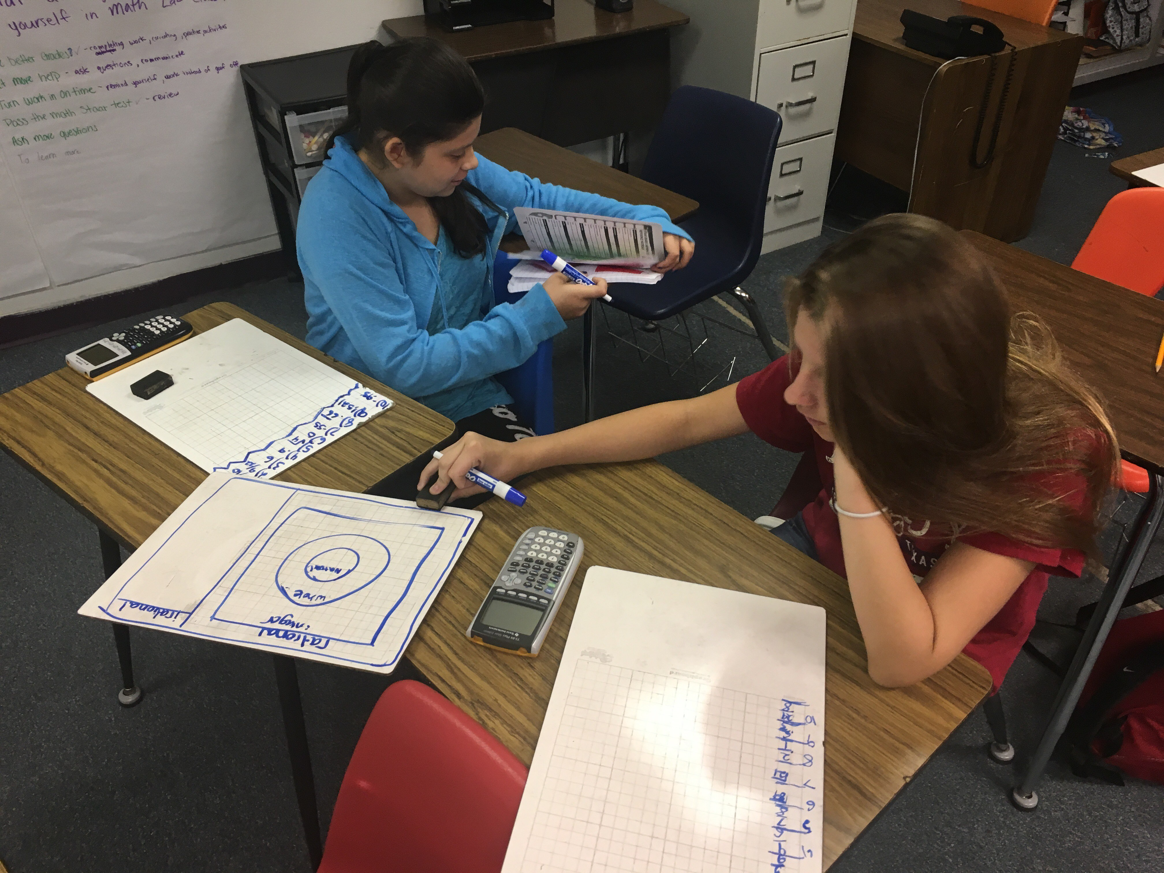 Students working in Math ... on their first day of school!