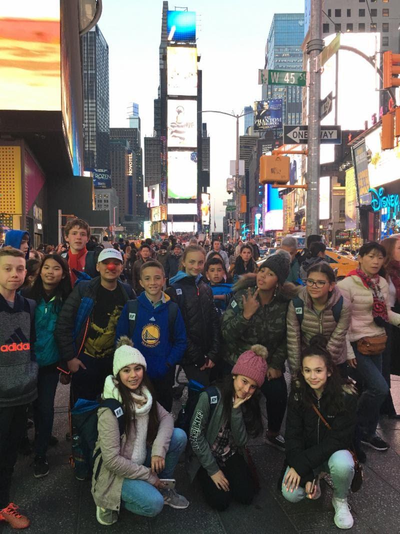 GVA middle schoolers in New York City