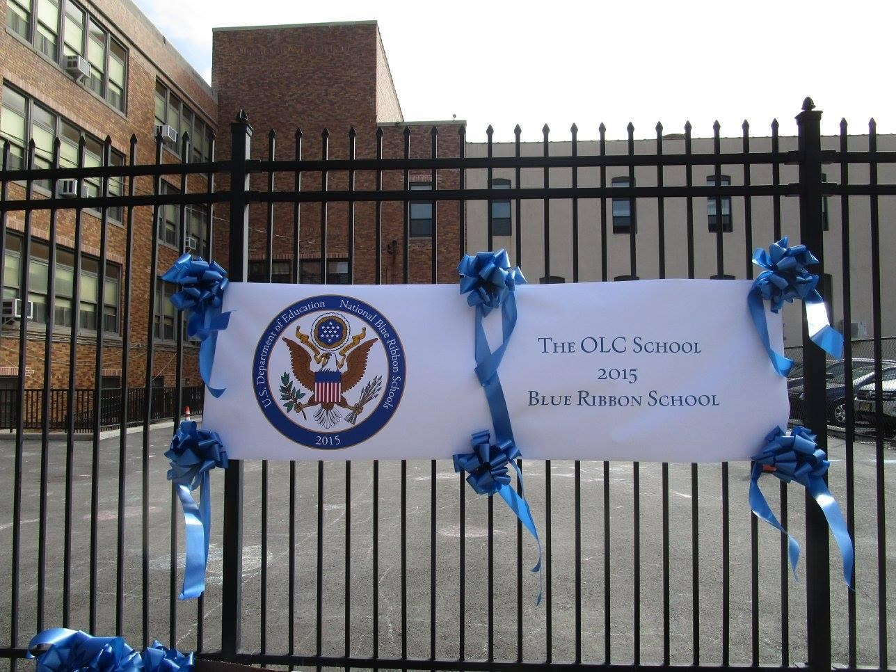 Blue Ribbon School banner.