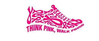 walk for breast cancer awareness shoe icon
