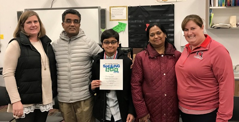 Chinmay Singh wins District Spelling Bee