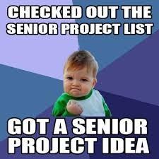 Got a Senior Project idea meme