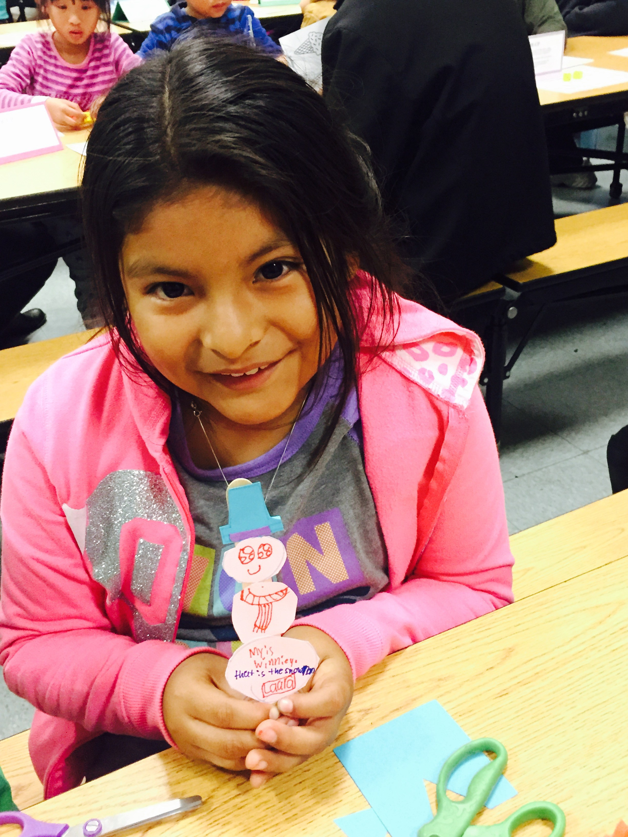 All smiles at Family Math night.