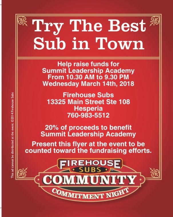 Firehouse Sub's Fundraiser Thumbnail Image