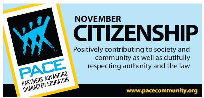 PACE Character Trait for November - Citizenship Thumbnail Image