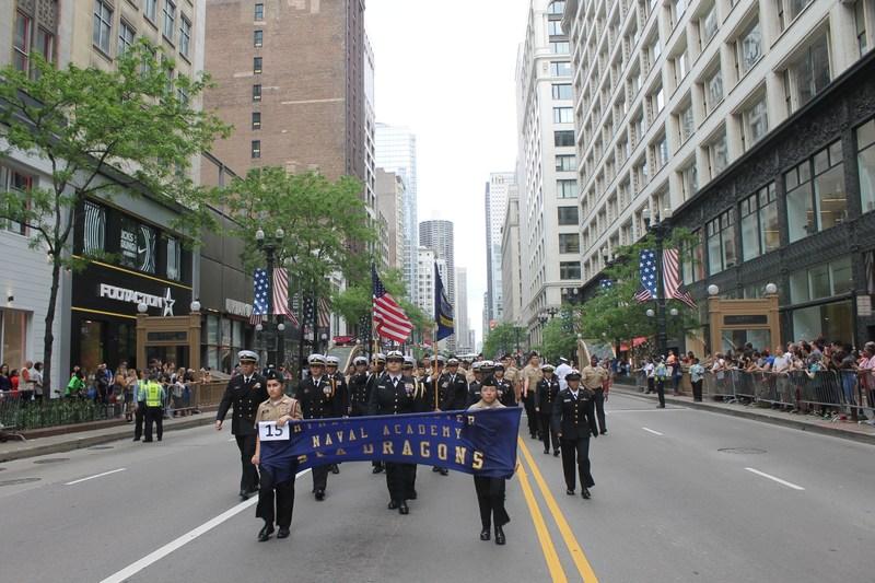 RNA Cadet Corp at the Memorial Day Parade