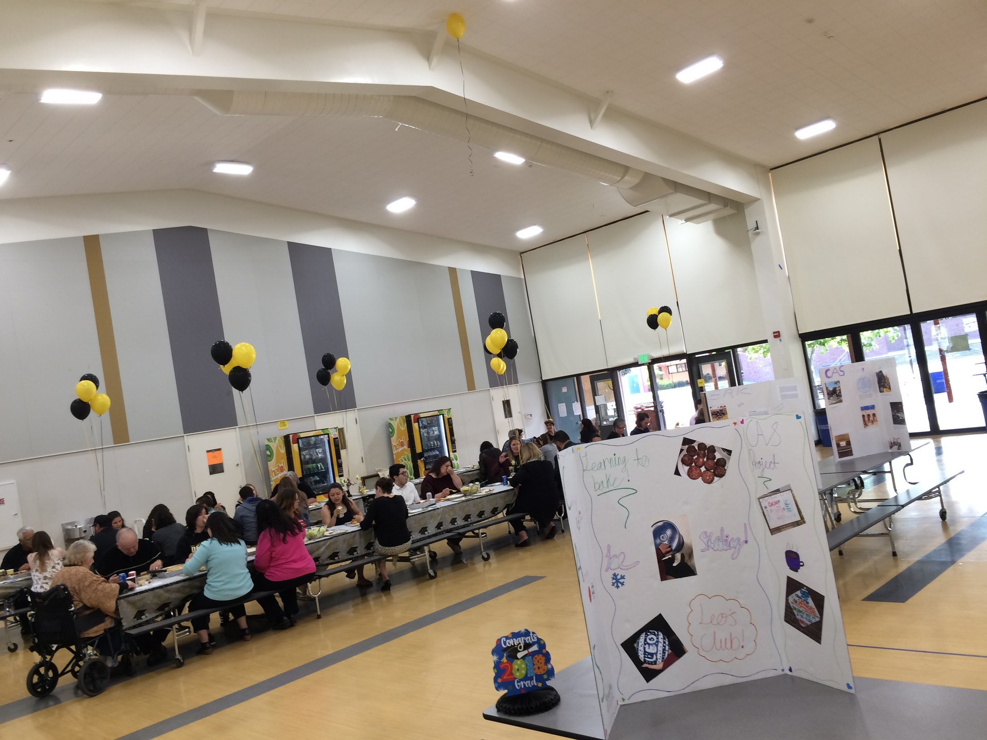 Image of 2018 IB Diploma Candidate's presentation board at CAS Celebration Event