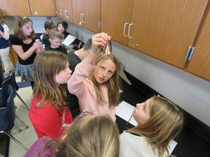 Page Elementary students get a hands-on science lesson.