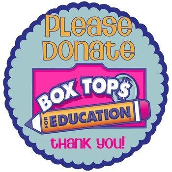 Please donate box tops logo