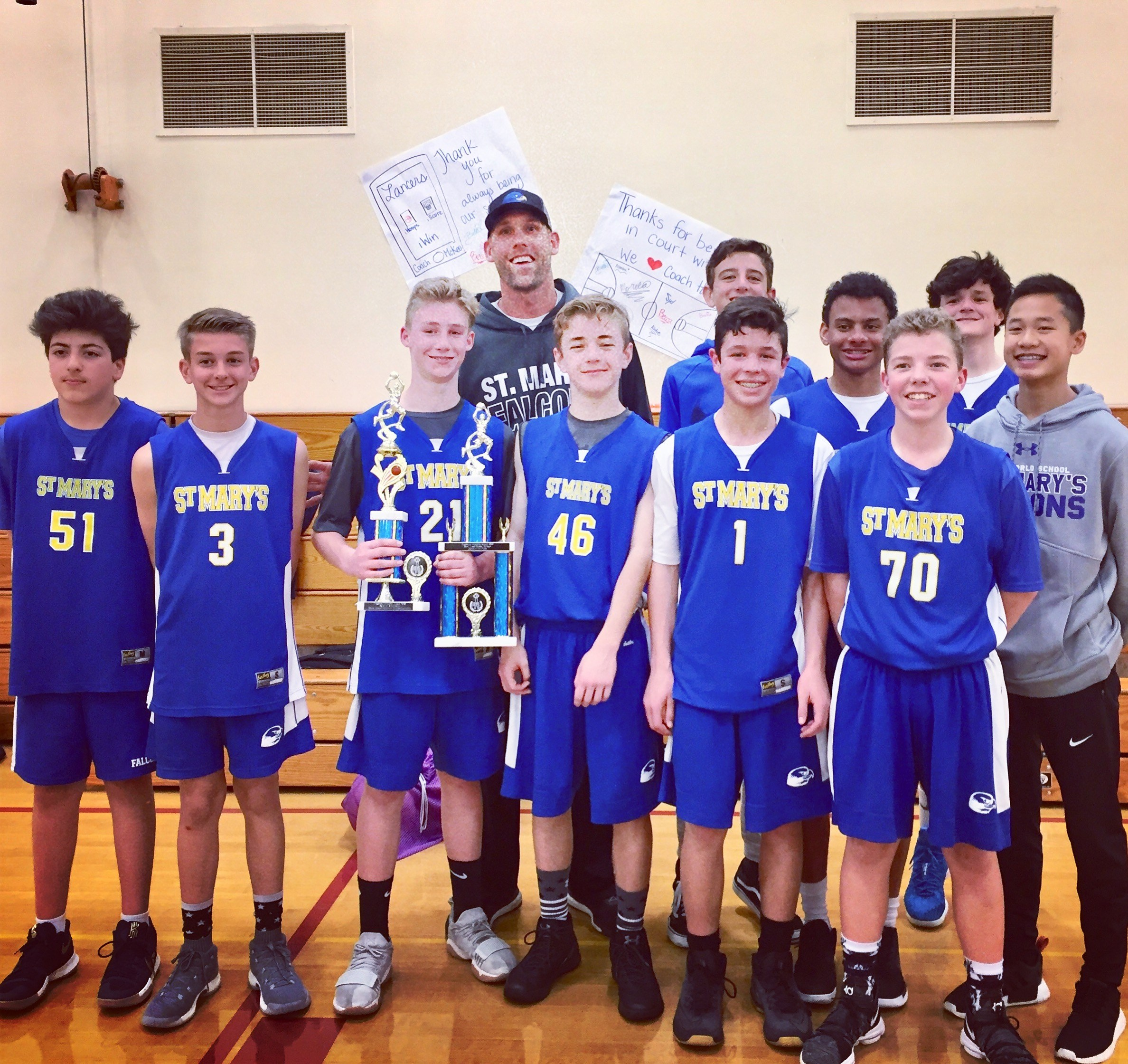 Congratulations to our Mountain A & Canyon B Basketball Teams for winning the PAL League Championships!