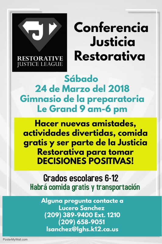 Restorative Justice League Conference/ Conferencia Justicia Restaurativa Featured Photo