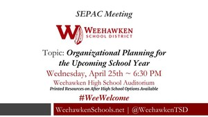 SEPAC Meeting - Wednesday, April 25th