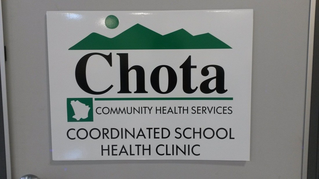 A CHOTA sign at Coker Creek Elementary School