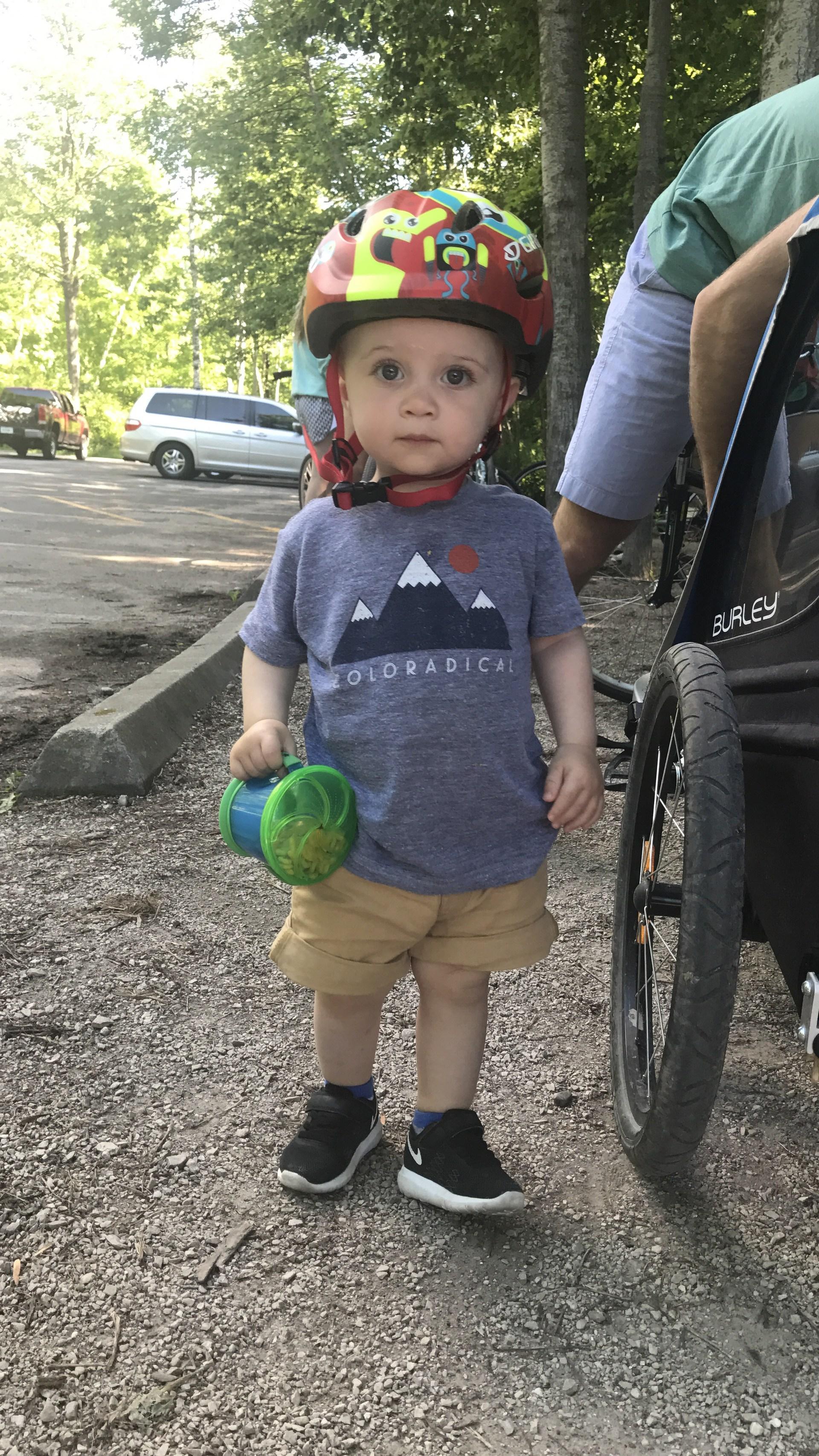 Jack's first bike ride!
