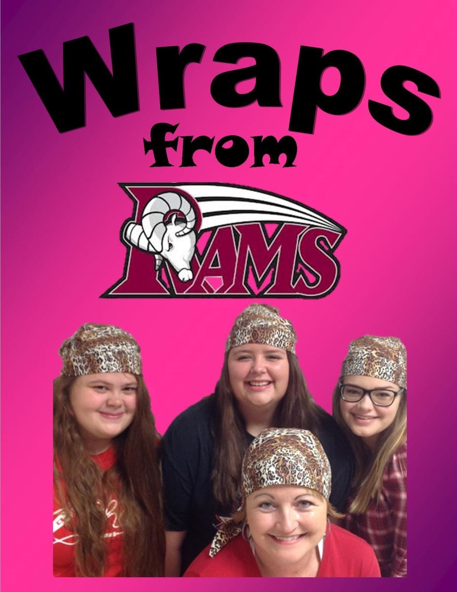 Photo Caption: Cheyenne Hutchison, Adelaide Hopkins, Allie Langley, and Stacey Clark, a teacher at Mineral Wells High School, can be seen posing in the picture with the flyer for