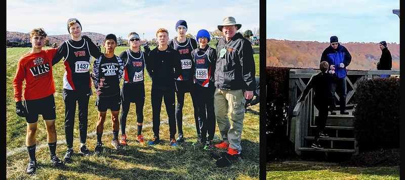 Boys Cross Country Team at State Competition