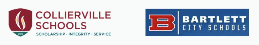 Collierville Schools & Bartlett City Schools logos